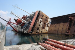 Gezonken schip