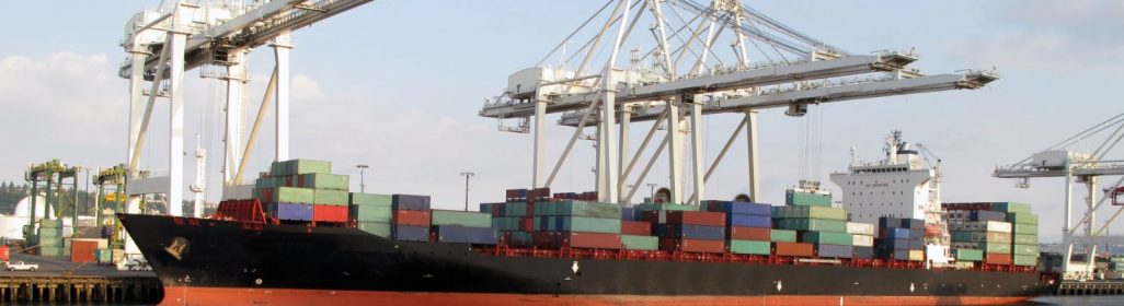Container ship harbour