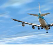 Vliegtuig met EFR logo